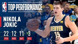 Nikola Jokic Gets a Triple-Double (22/12/11) vs. Warriors | January 8, 2018