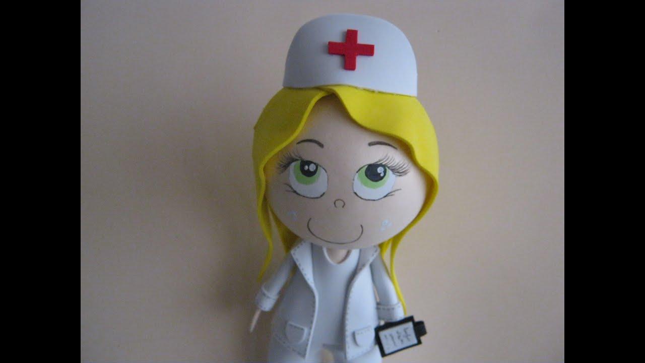 Moldes Fofuchas Para Imprimir Enfermera