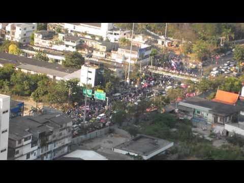 Thai Protests, Ekamai-Petchburi Junction, Bangkok