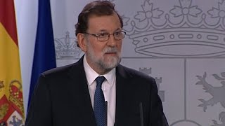 Mariano Rajoy gives statement on Catalonia crisis