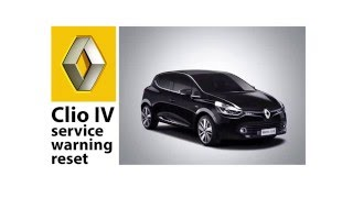 Renault Clio IV: How to reset service message