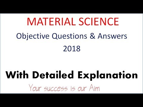 Material Science Objective Question And Answers , Mechanical