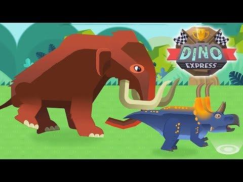 Dino Dana - Dinosaur Race #3: Diabloceratops, Brachiosaurus, Mammoth & Troodon   Eftsei Gaming  