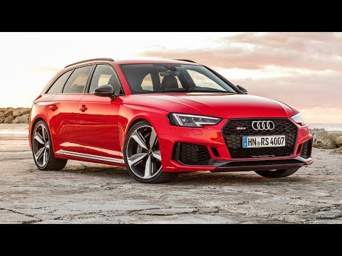 2018 Red Audi RS 4 Avant - 0-100 k/h Acceleration and 450 hp Engine Exhaust Sound