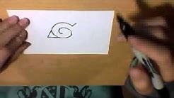 how to draw naruto konoha symbol