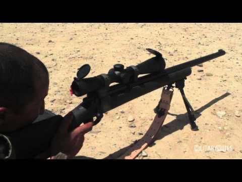 ANA Sniper training with M24 SWS (Sniper Weapon System)