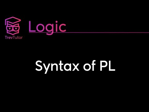 [Natural Deductive Logic] Basic Syntax of PL || Lecture 2