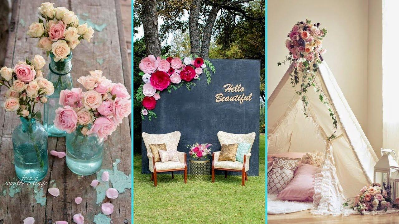 DIY Shabby Chic Style Flower Decor Ideas 2017