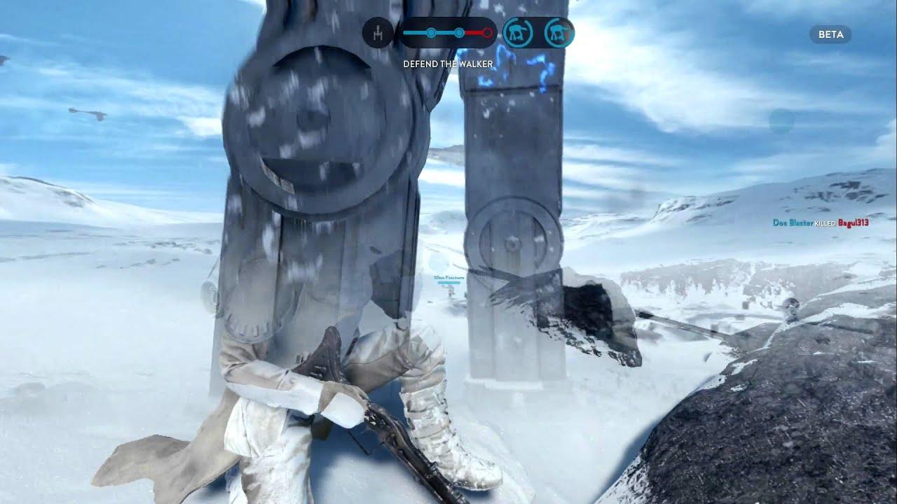 Battlefield Hardline Hd Wallpaper Star Wars Battlefront At At Gameplay The Power Youtube
