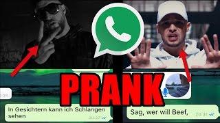 WhatsApp PRANK mit Raptexten!