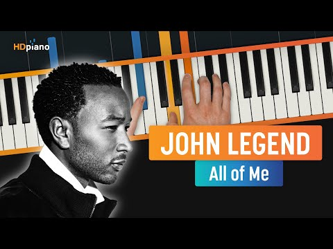 How To Play All of Me Redone  John Legend  HDpiano Part 1 Piano Tutorial