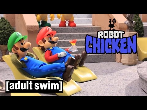 3 Classic Super Mario Moments | Robot Chicken | Adult Swim