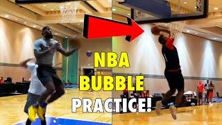 "LeBron James & NBA Teams First ""NBA Bubble Workout"" at NBA Disney World Bubble in Orlando!"