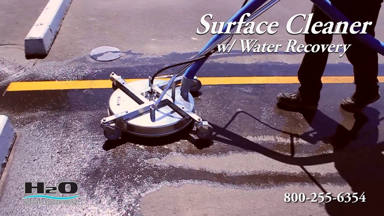 Surface Cleaner With Water Recovery Pressure Washers And