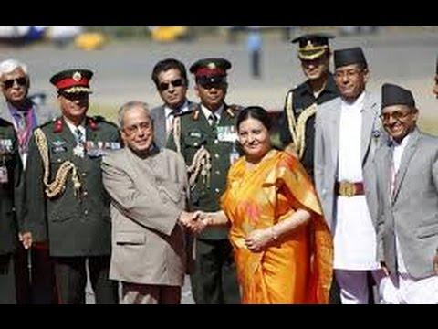 Indian president (pranab mukherjee)In Pokhara Nepal