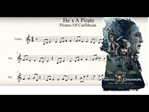 pirates of the caribbean-He's a pirate Violin Musicsheet (partitura violin)