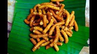 Village Snack Jaggery sev.!!!|||Jaggery sev recipe