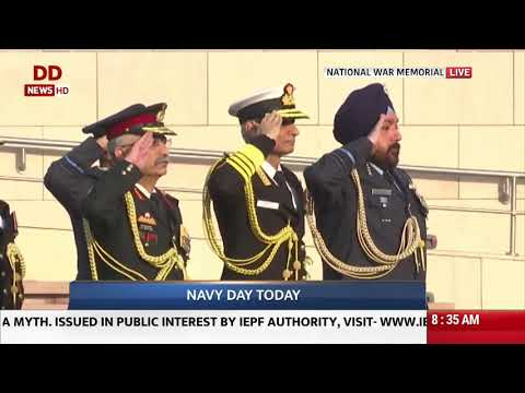 Naval Day 2019 I Admiral Karambir Singh pays tribute at National War Memorial I