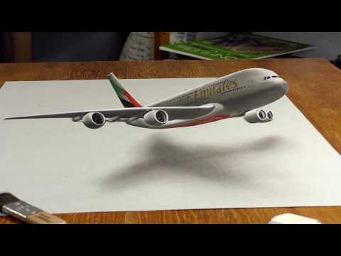 3D Painting of an Emirates A380 | Emirates Airline