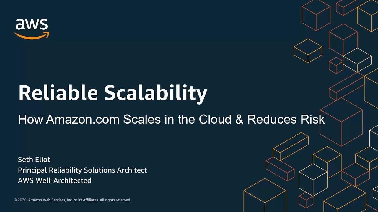Reliable Scalability - How Amazon.com Scales in the Cloud and Reduces Risk | AWS Events