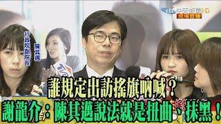 【精彩】誰規定出訪搖旗吶喊? 謝龍介:陳其邁說法就是扭曲、抹黑!