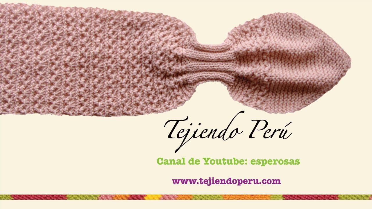 Bufanda gatito en dos agujas (Knitted neck scarf) Parte 2. Esperanza y Ana Celia Rosas