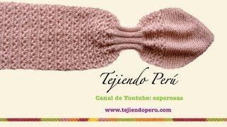 Bufanda gatito en dos agujas (Knitted neck scarf) Parte 2