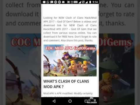 god of gems clash of clans apk download 2017