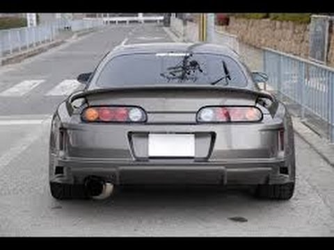 1000hp Toyota Supra burnout + exhaust sound - YouTube