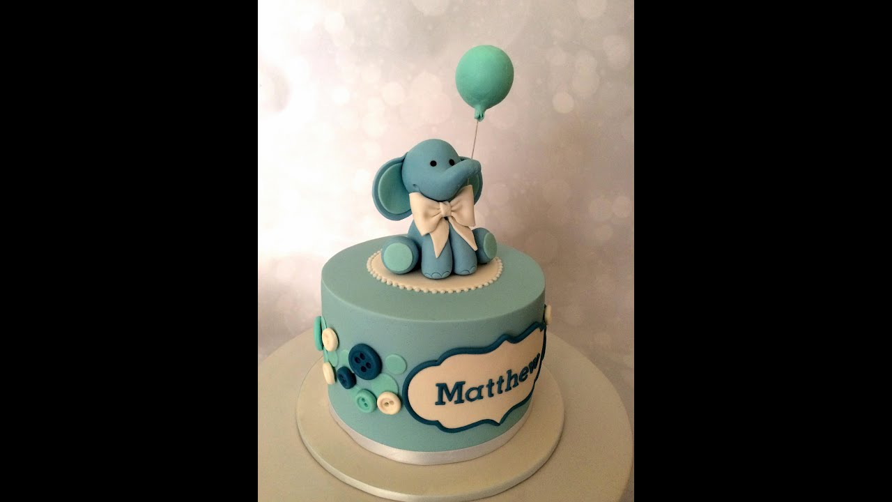 Fondant Elephant Tutorial Youtube