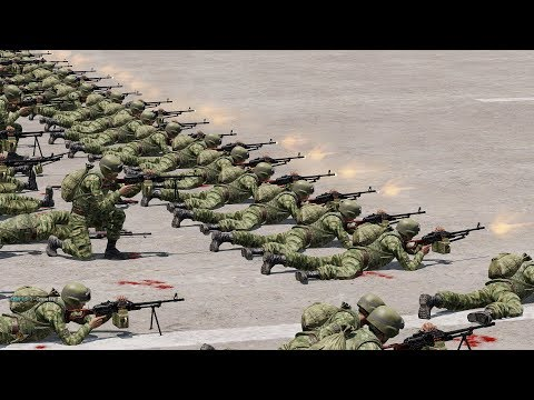 100 RUSSIAN SOLDIERS vs 10.000 ZOMBIES - ArmA 3 (Zombies & Demons)