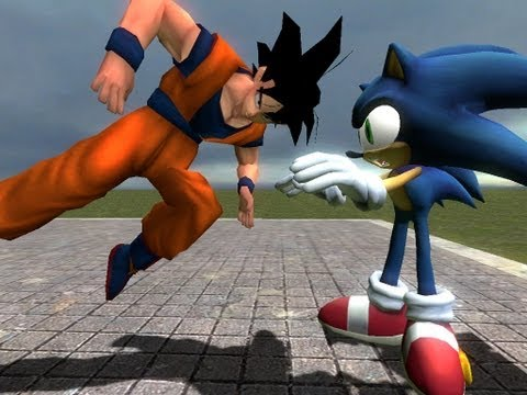 Goku vs Sonic RE-UPLOADED!!! (Satire Edition)