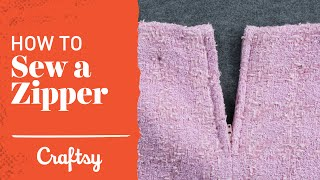 How to Sew a Zipper: Steps for Success | Craftsy Sewing Tutorial