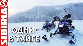 Одни в тайге на МИНИ снегоходах и рыбалка в Сибири | Капкан на щуку | Окуни на балансир