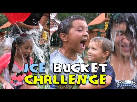 Thumbnail: SKYLANDER BOY and GIRL take the ICE BUCKET CHALLENGE! w/ Lightcore Chase & Mom (Nominates...) ALS