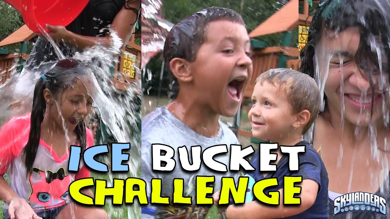 SKYLANDER BOY and GIRL take the ICE BUCKET CHALLENGE! w/ Lightcore Chase & Mom (Nominates...) AL