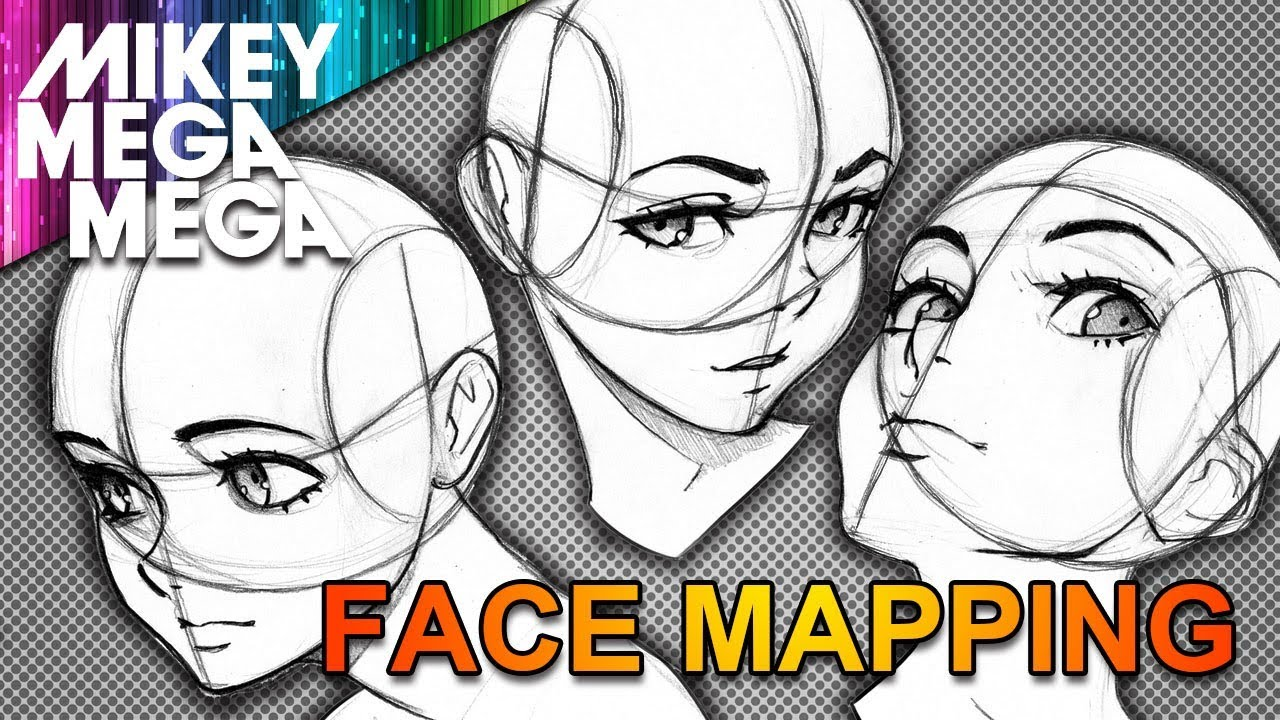 mapping face anime & manga