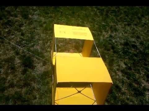 Wwii Vintage Gibson Girl Box Kite Youtube