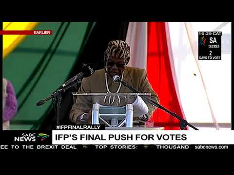 IFP leader Prince Mangosuthu Buthelezi election rally speech