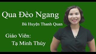 Qua đèo Ngang - Ngữ văn 7 - Cô Tạ Minh Thủy
