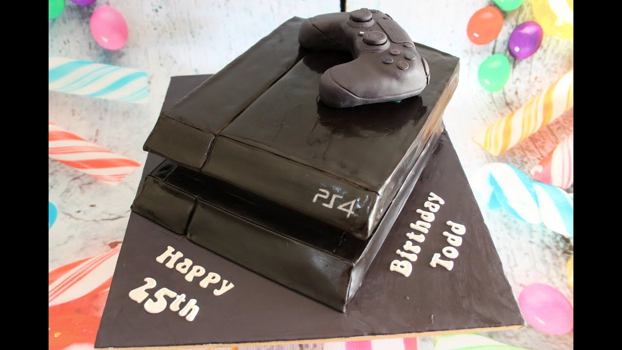 Ps4 Console Cake How To Youtube
