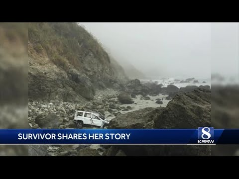 Amazing survival story: Woman who survived Big Sur crash releases pictures