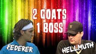 Difference of 2 GOATs! Tennis King Federer tells Pokerbrat Hellmuth to sit his ASS down!
