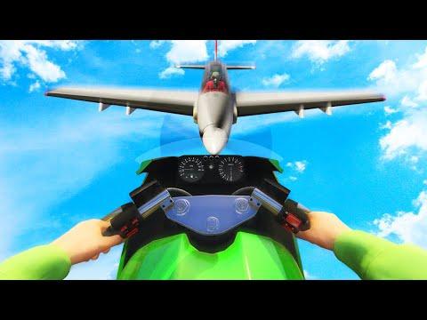MILE HIGH BIKES vs. PLANES CHALLENGE! (GTA 5 Funny Moments)