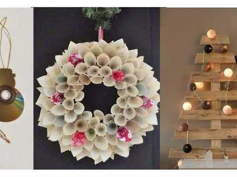 Christmas decoration with recycled material - YouTube