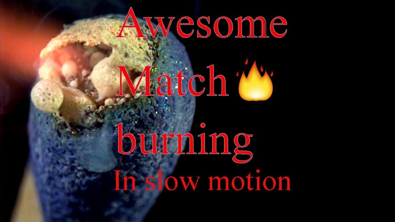 Match burning in slow motion