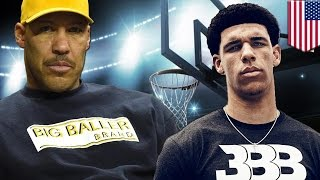 LaVar Ball interview  Lonzo's loudmouth dad gets into it with Kristine Leahy on The Herd   TomoNews