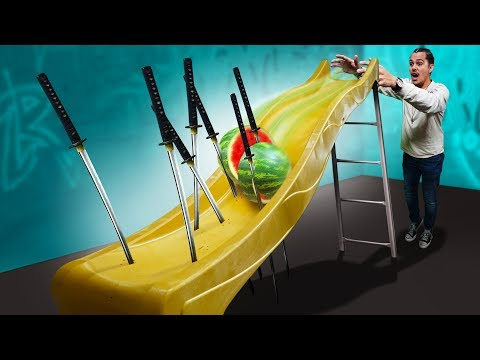 DANGEROUS Playground Slide Challenge!