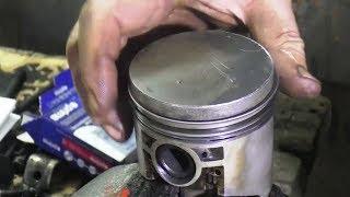 Наборка блока двигателя.  Ремонт мотора ВАЗ 2103.  3 часть.