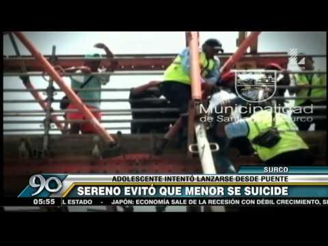 Surco: Sereno Evitó Que Adolescente Se Lanzará De Puente